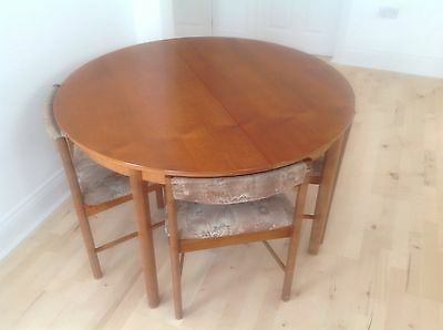 Like G Plan retro teak extendable dining table and 4 chairs, 2 mins J25 of M62