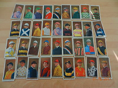 OGDENS jockeys and owners colours