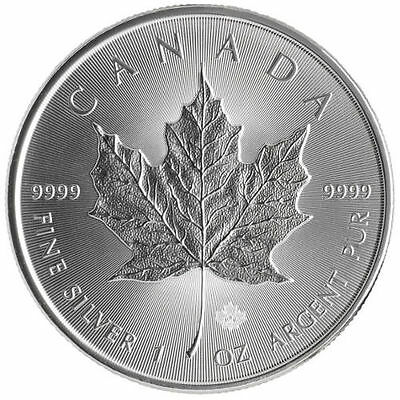 2017 Canadian 1 oz .9999 Silver Maple Leaf Round Bullion RCM BU Limited Coin