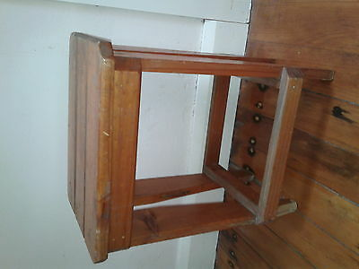 Vintage Rustic Solid Timber Farmhouse Kitchen Stool