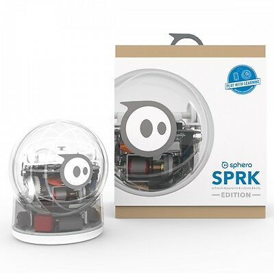 New NIB SEALED Sphero SPRK App-Controlled Robotic Ball Android iOS Clear S003SFC