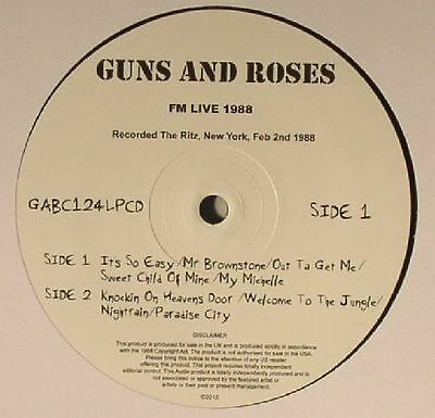 GUNS N ROSES - FM Live 1988 - Vinyl (limited numbered vinyl LP + CD)