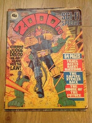 2000AD Sci-Fi Special 1980 Comic With Judge Dredd 64 Pages