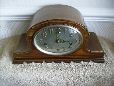 Art Deco Inlaid westminster chimes mantel clock. Spares/Repair