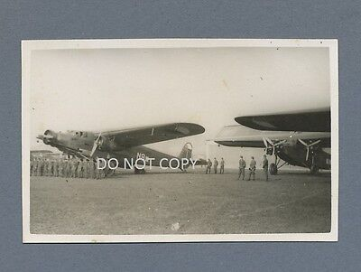 Vintage Photo Fokker FIX and FVII Aircraft Czechoslovak Air Force 1930s
