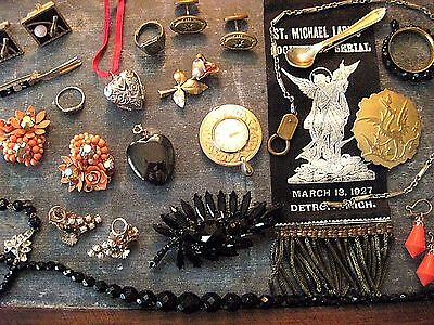 Antique Vintage Jewelry Lot for Wear, Repair and Repurpose