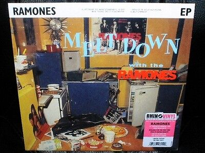 """10"""" RAMONES meltdown with the RECORD STORE DAY EU 2014 RSD 45 PINK VINYL punk"""