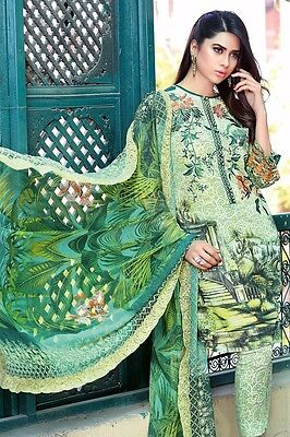 Gul Ahmed Parrot Green Chantilly De Lace Shalwar Kameez