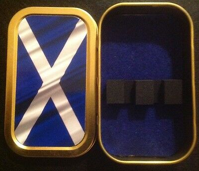 Bassoon reed case. Novelty Scottish Flag tin. Ideal present for Bassonists