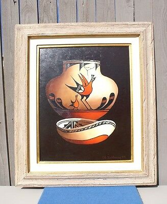 C.E. DOLSBERRY Original Oil on Canvas Pottery Signed, Dated, Matted and Framed