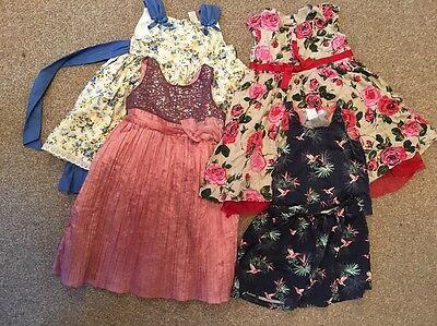 Girl Bundle Dresses Outfit Play Party Wedding Occasion Multi Colour Next X 2