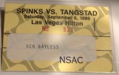 Mike Tyson v Alfonso Ratliff boxing fight credential / pass - RARE!!