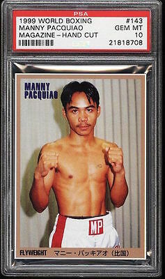 1999 World Boxing Magazine card Manny Pacquiao ROOKIE RC #143 PSA 10 GEM MINT