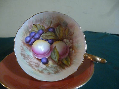 Aynsley Cabinet Cup And Saucer Terrecota
