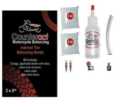 Counteract Tire Balancing Beads/Installation Bottle Kit D 2 x 2oz for Motorcycle