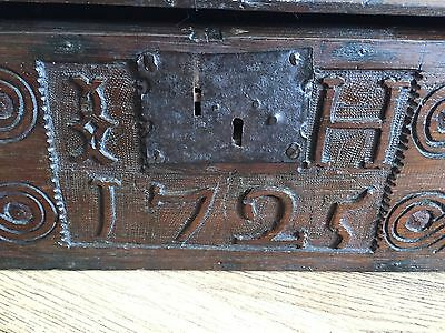 18th Century Bible Box Carved 1725
