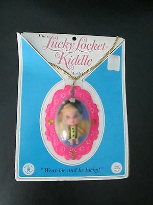 Vintage Liddle Kiddles Rare Louise Lucky Locket Necklace Jewelry Mattel Yellow