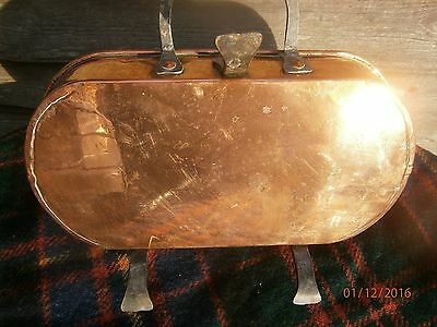 French Copper Vintage Drip Pan Dovetailed Rare Item Skillet Lined Pouring Lip