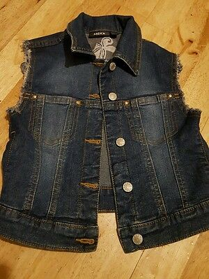 girls mexx denim waist coat, age 5-6