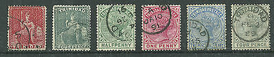 QV Trinidad Collection of 6 x Very Fine CDS Used stamps
