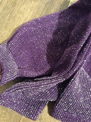 Vintage 1980s Purple Glitter Leg Warmers One Size Roller Booting Skating Ballet