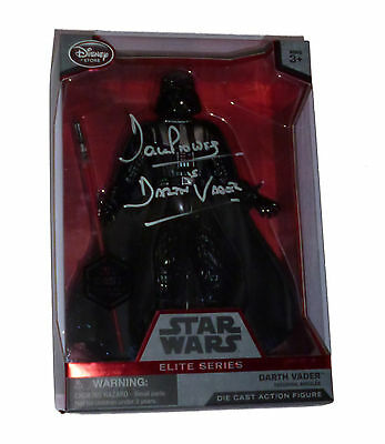 Dave Prowse Signed Darth Vader Elite Series Diecast Star Wars With Exact Proof