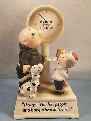1958 Publishers Syndicate Brother Juniper Dalmatian Weight and Fortune Statue