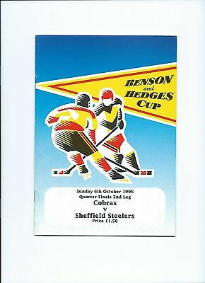 96/97 Newcastle Cobras v Sheffield Steelers b and h