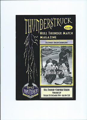99/00 Hull Thunder v  Sheffield Steelers  Yorkshire Cup   Dec issue