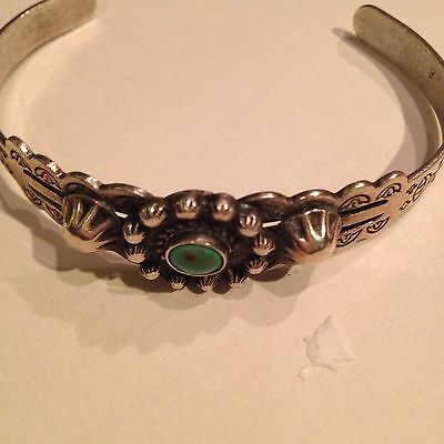 Cuff Bracelet With Small Turquoise