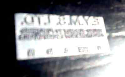 East Yorkshire Motor Services Almex A ticket machine print plate