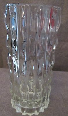 Large Glass Vase Vintage Fidenza Heavy  Made In Italy 9'' High