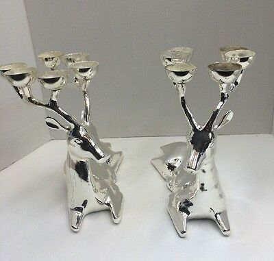 Reindeer Candle Holders Silver Plated Brass Candelabras Costco Traditions