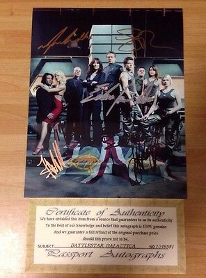 "BATTLESTAR GALACTICA CAST Hand Signed 8""X10"" INCH AUTOGRAPHED PICTURE WITH A COA"