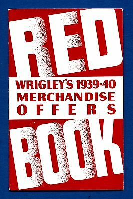 """Wrigley's (1939-40)  """"Red Book"""" Merchandise Offers Book"""