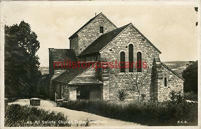 Real Photographic Postcard Of All Saints Church, Totley, Derbyshire