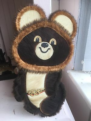 Rare Olympic Mishka Bear Wall Picture Plaque Moscow Olympic Games 1980