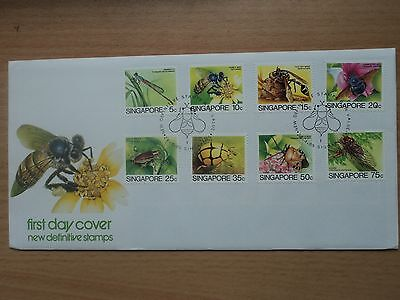 Singapore 24 April 1985 Insects definitives Low Values FDC SG491-498