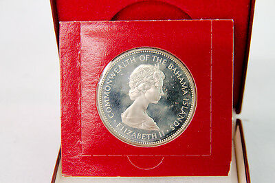 1973 Bahama Islands Two 2 Dollar Sterling Silver Proof Coin Minted Franklin Mint