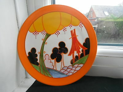 """CLARICE CLIFF """"SUMMERHOUSE"""" PLATE -  MINT/CERT' & BOXED by WEDGWOOD"""