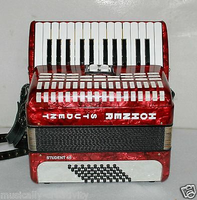 Hohner STUDENT 48 BASS Piano Accordion Akkordeon Fisarmonica Excellent  +++++