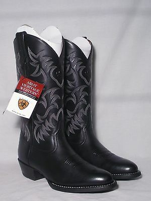 New In Box Black Ariat Heritage Western Cowboy Boots Mens Size 8EE