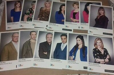 Job lot of unsigned cast cards x44