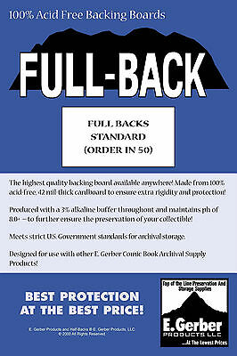 "Full Back Standard Comic Boards - Professional Backing Boards  7"" x 10.5"""