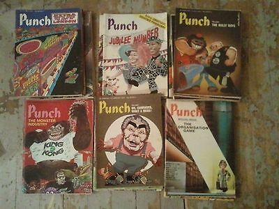 Job Lot Of 36 X Vintage Punch Magazines From 1970's (1976 - 1977)