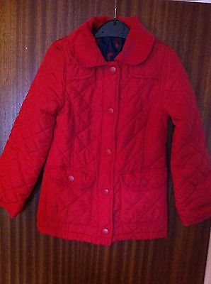 Girls Jacket 5-6 Years Barbour Style Bright Red