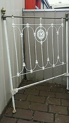 Antique decorative cast iron bed