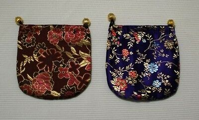 12 Silk Brocade Jewelry Coins Pouch Bag 4 Drawstring
