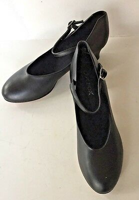 New Capezio Black Ballroom Dance Shoes Leather Soles 7-1/2 medium