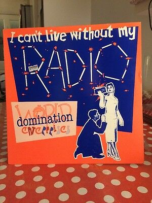 "World Domination Enterprises I Can't Liv... UK 12""  record (Maxi)"